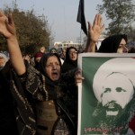 Bahreyn'de din adamı Nimr için halk sokağa çıktı